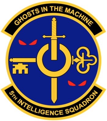 Coat of arms (crest) of the 5th Intelligence Squadron, US Air Force
