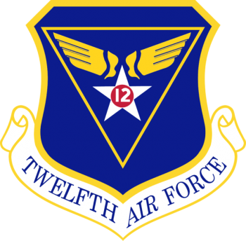 Coat of arms (crest) of the 12th Air Force, US Air Force