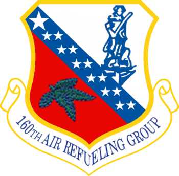 Coat of arms (crest) of the 160th Air Refueling Group, Ohio Air National Guard