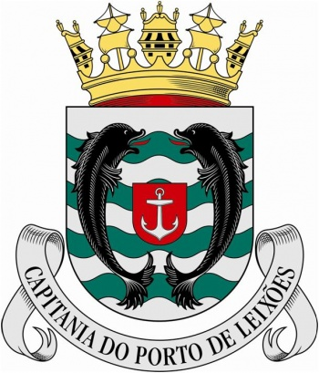Coat of arms (crest) of the Harbour Captain of Leixões, Portuguese Navy