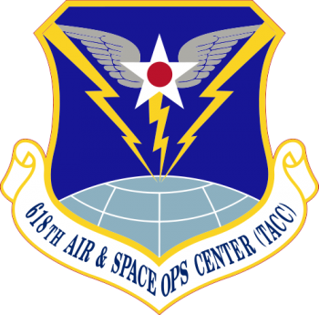 Coat of arms (crest) of the 618th Air and Space Operations Center (Tanker Airlift Control Center), US Air Force
