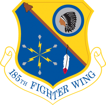 Coat of arms (crest) of the 185th Air Refueling Wing, Iowa Air National Guard