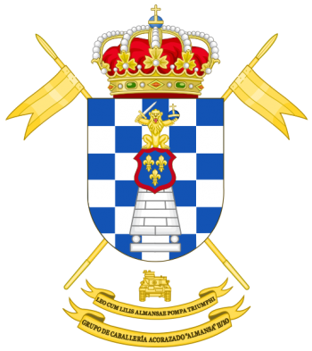 Coat of arms (crest) of the Armoured Cavalry Group Almansa II-10, Spanish Army