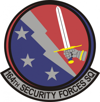 Coat of arms (crest) of the 164th Security Forces Squadron, Tennessee Air National Guard