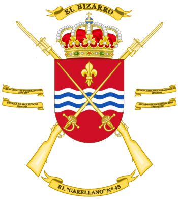 Coat of arms (crest) of the Infantry Regiment Garellano No 45, Spanish Army