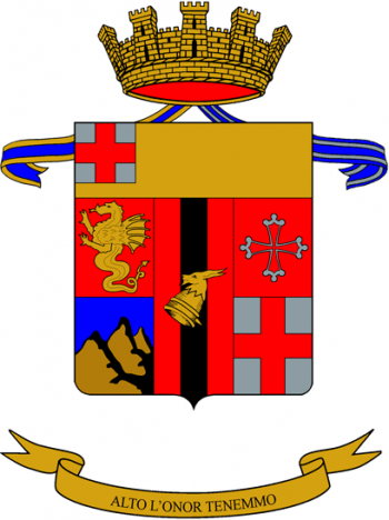 Coat of arms (crest) of the 33rd Artillery Regiment, Italian Army