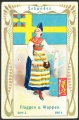 Arms, Flags and Folk Costume trade card Natrogat Schweden