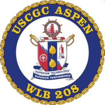 Coat of arms (crest) of the USCGC Aspen (WLB-208)