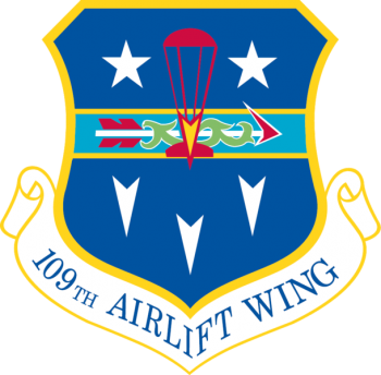 Coat of arms (crest) of the 109th Airlift Wing, New York Air National Guard