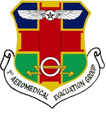 Coat of arms (crest) of the 1st Aeromedical Evacuation Group, US Air Force