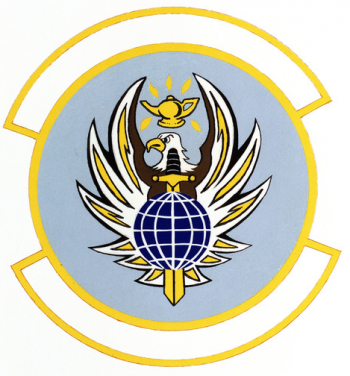 Coat of arms (crest) of the 3823rd Air Command and Staff College Student Squadron, US Air Force
