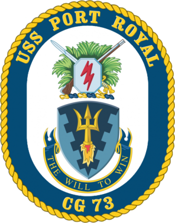 Coat of arms (crest) of the Cruiser USS Port Royal