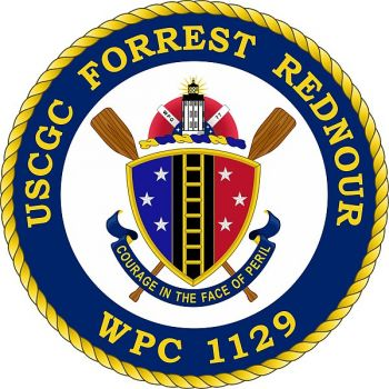 Coat of arms (crest) of the USCGC Forrest Rednour (WPC-1129)
