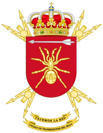 Coat of arms (crest) of the Signal Battalion of the Air Defence Command, Spanish Army