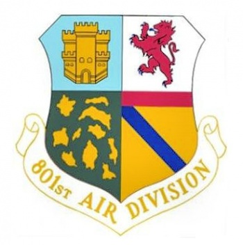 Coat of arms (crest) of the 801st Air Division, US Air Force