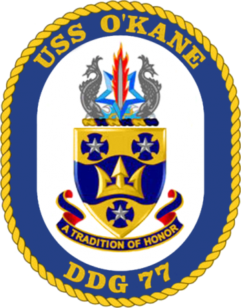 Coat of arms (crest) of the Destroyer USS O'Kane