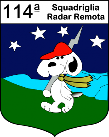 Coat of arms (crest) of the 114th Remote Radar Squadron, Italian Air Force