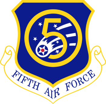 Coat of arms (crest) of the 5th Air Force, US Air Force