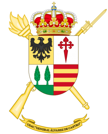 Coat of arms (crest) of the Barracks Services Unit General Álvarez de Castro, Spanish Army