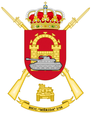 Tank Infantry Battalion Mérida I-16, Spanish Army.png