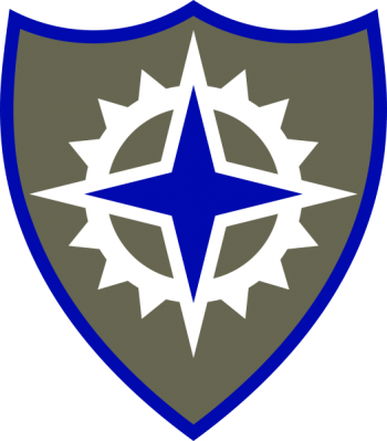 Coat of arms (crest) of the XVI Corps, US Army