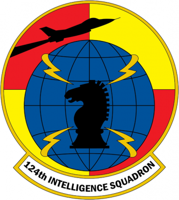 Coat of arms (crest) of the 124th Intelligence Squadron, US Air Force