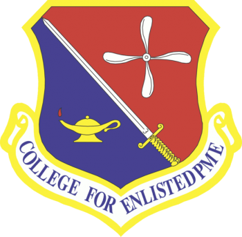 Coat of arms (crest) of the College for Enlisted Professional Military Education, US Air Force