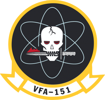 Coat of arms (crest) of the VFA-151 Vigilantes, US Navy