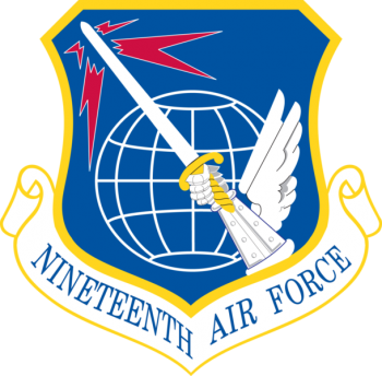 Coat of arms (crest) of the 19th Air Force, US Air Force