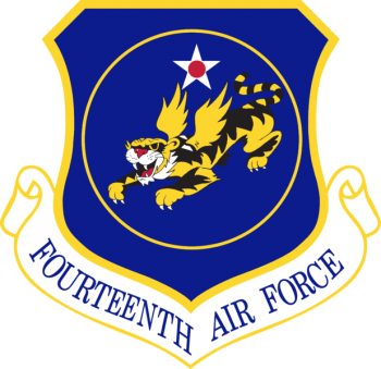 Coat of arms (crest) of the 14th Air Force, US Air Force