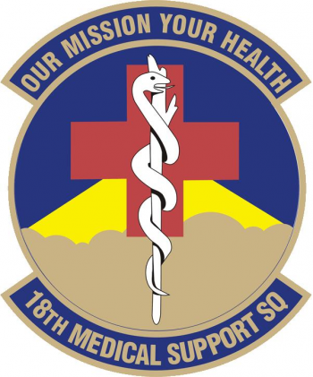 Coat of arms (crest) of the 18th Medical Support Squadron, US Air Force