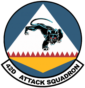 Coat of arms (crest) of the 42nd Attack Squadron, US Air Force