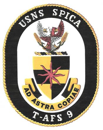 Coat of arms (crest) of the Combat Stores Ship USNS Spica (T-AFS-9)