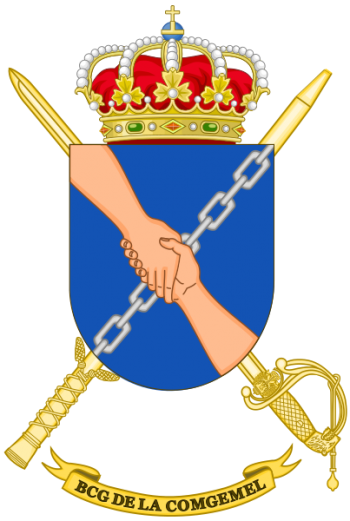 Coat of arms (crest) of the Melilla General Command Headquarters Battalion, Spanish Army