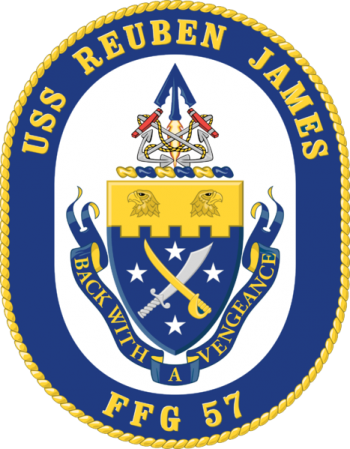 Coat of arms (crest) of the Frigate USS Reuben James (FFG-57)