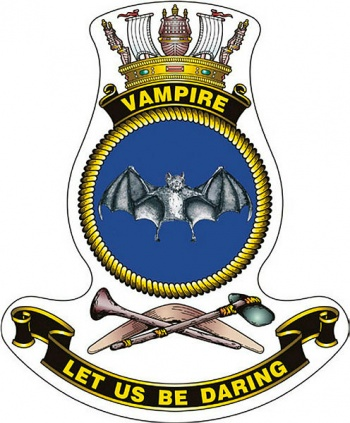 Coat of arms (crest) of the HMAS Vampire, Royal Australian Navy