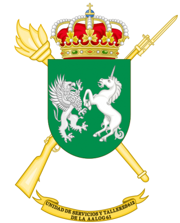 Coat of arms (crest) of the Logistics Services and Mechanical Workshops Unit 612, Spanish Army