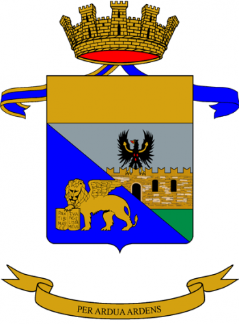 Coat of arms (crest) of the 2nd Mountain Artillery Regiment, Italian Army