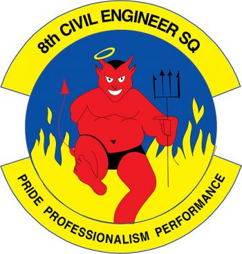 Coat of arms (crest) of the 8th Civil Engineer Squadron, US Air Force