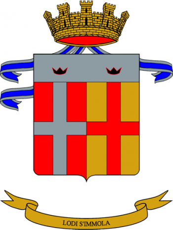 Arms of 15th Cavalry Regiment Cavalleggeri di Lodi, Italian Army