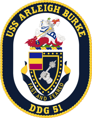 Coat of arms (crest) of the Destroyer USS Arleigh Burke