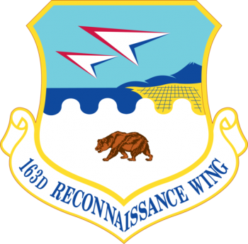 Coat of arms (crest) of the 163rd Reconnaissance Wing, California Air National Guard