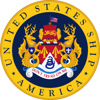 Coat of arms (crest) of the Aircraft Carrier USS America (CV-66)