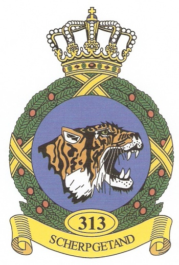 Coat of arms (crest) of the 313th Squadron, Netherlands Air Force