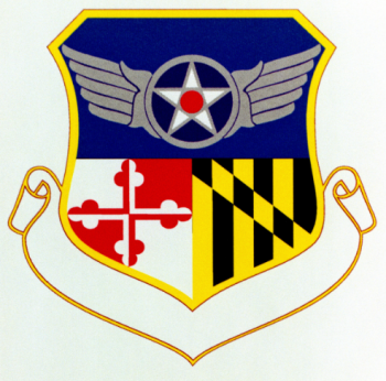 Coat of arms (crest) of the Maryland Air National Guard, US