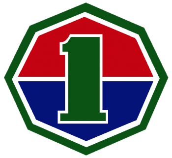 Coat of arms (crest) of the 1st ROK Army, Republic of Korea Army