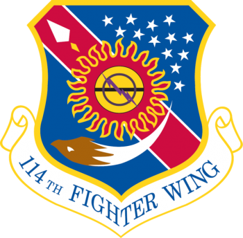 Coat of arms (crest) of the 114th Fighter Wing, South Dakota Air National Guard