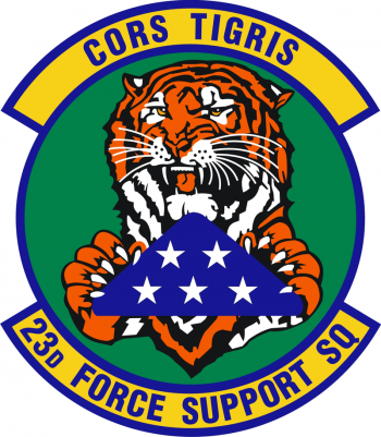 Coat of arms (crest) of the 23rd Forces Support Squadron, US Air Force