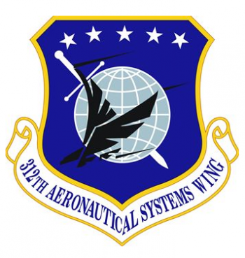 Coat of arms (crest) of the 312th Aeronautical Systems Wing, US Air Force