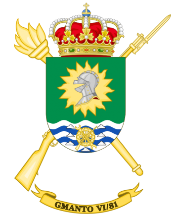 Coat of arms (crest) of the Logistics Maintenance Group VI-81, Spanish Army